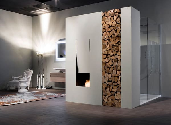 Bathroom Fireplace Ideas, Designs by Antonio Lupi