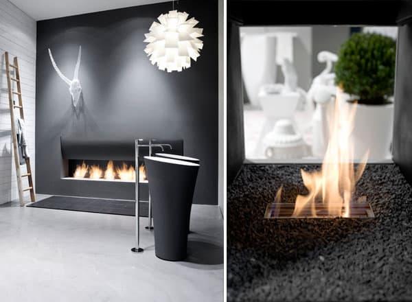 Bathroom Fireplace Ideas Designs by Antonio Lupi