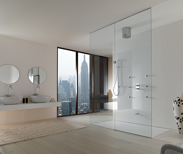 bathroom interiors jaclo walk in shower Modern Bathroom Interiors by Jaclo
