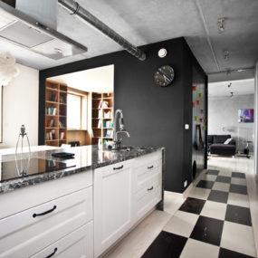 Inspiring Apartment Design with a black box by Mode:lina