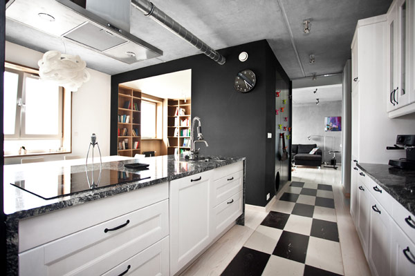 bookbox loft modelina 1 Inspiring Apartment Design with a black box by Mode:lina