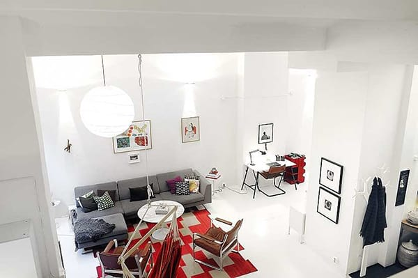 bright color accents loft apartment stockholm 2 Bright Color Accents – Loft Apartment in Stockholm