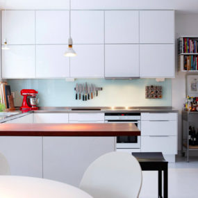 Bright White Kitchen of a Swedish Home