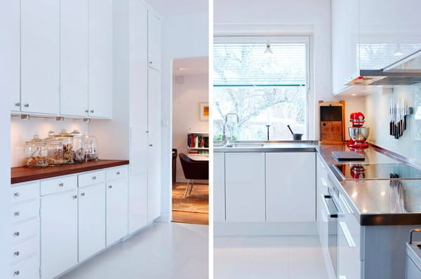 Bright White Kitchen Swedish Home 3