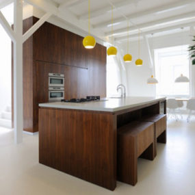 Chunky Wooden Kitchen Interior