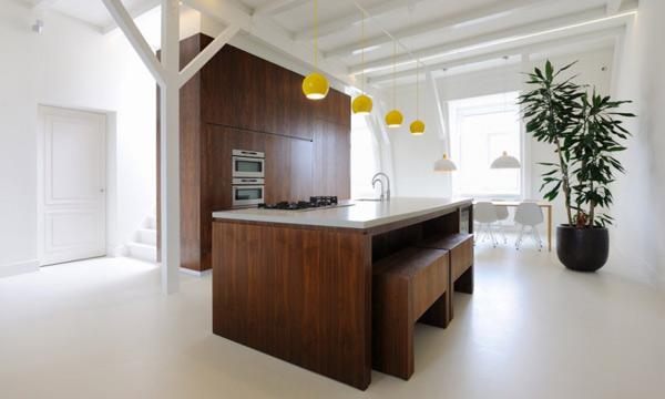 Chunky Wooden Kitchen Interior