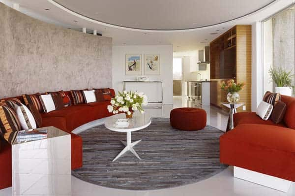 Circular Living Room Design
