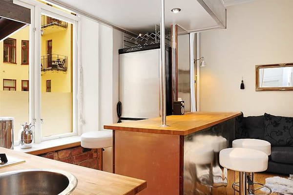 clever kitchen design compact modern apartment 1 Clever Kitchen Design for a Compact Modern Apartment