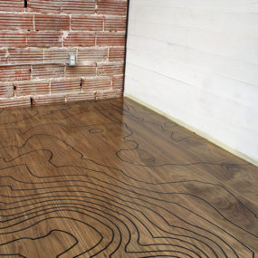 CNC Machine Engraved Floor with a Romantic Backstory: by Kara Paslay Designs