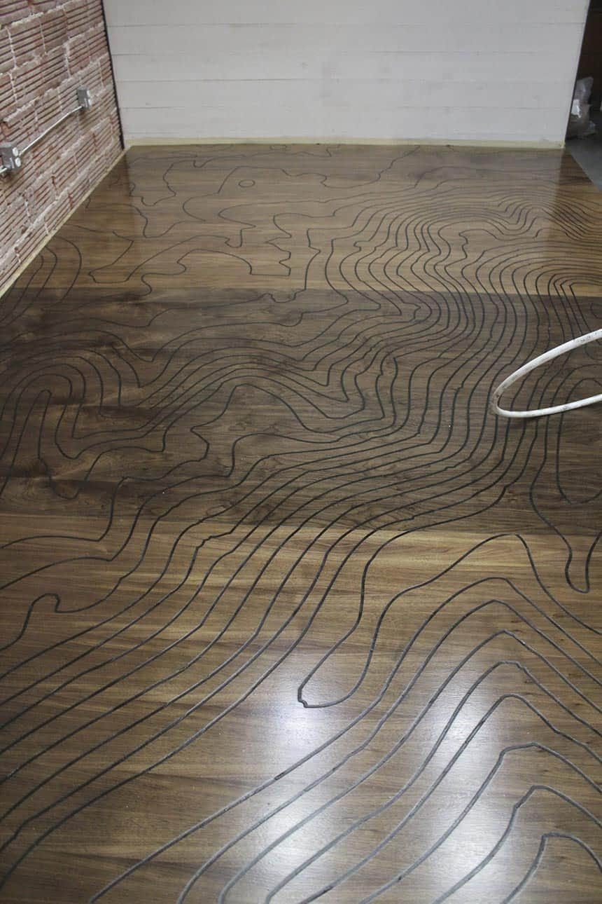 Cnc Machine Engraved Floor With A Romantic Backstory By