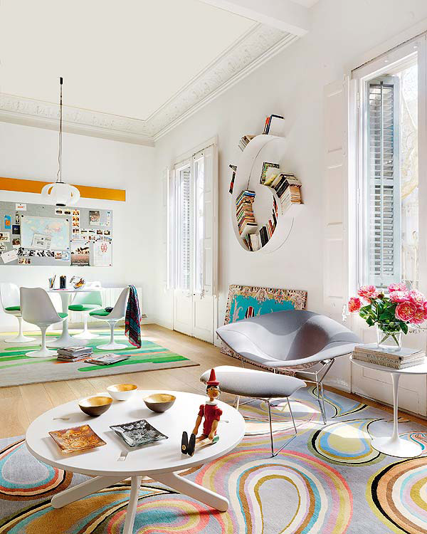 colorful apartment ideas from barcelona 1 Colorful Apartment Ideas from Barcelona