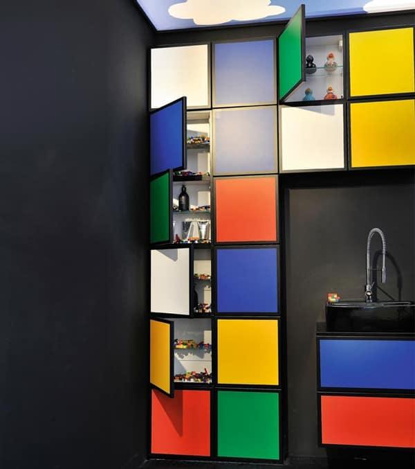 colorful bathroom decor delpha water play multi color bathroom 2 Colorful Bathroom Decor by Delpha   Water Play Multi Colored Bathroom
