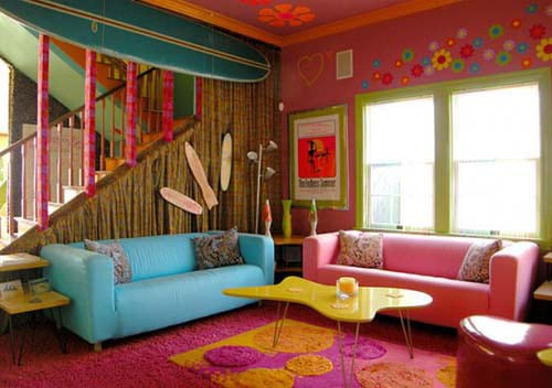 Colorful Beach House Interior Santa Monica 2 Colorful Beach House Interior  In Santa Monica