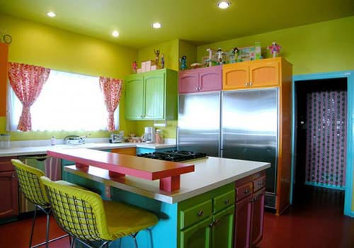Colorful Beach House Interior Santa Monica 3