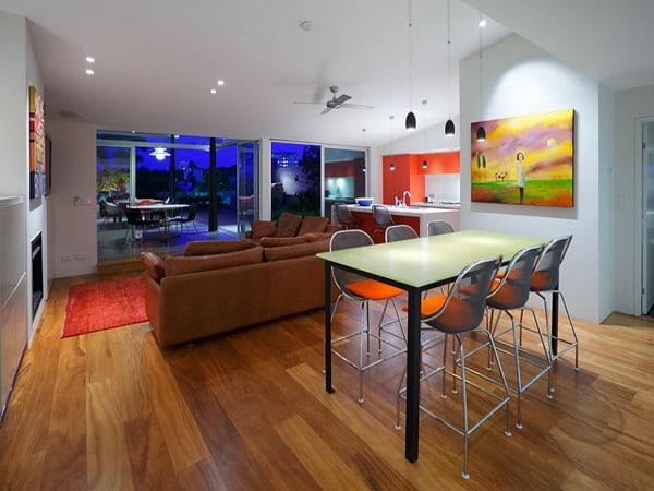 colorful contemporary interior australian home 1