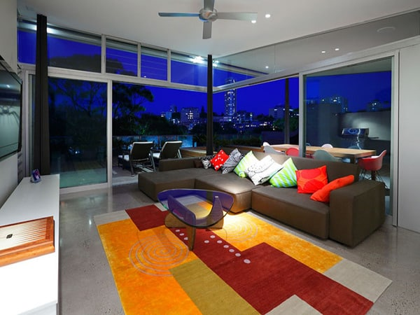 colorful contemporary interior australian home 2