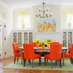 Colorful Dining Room Inspiration – Orange pop