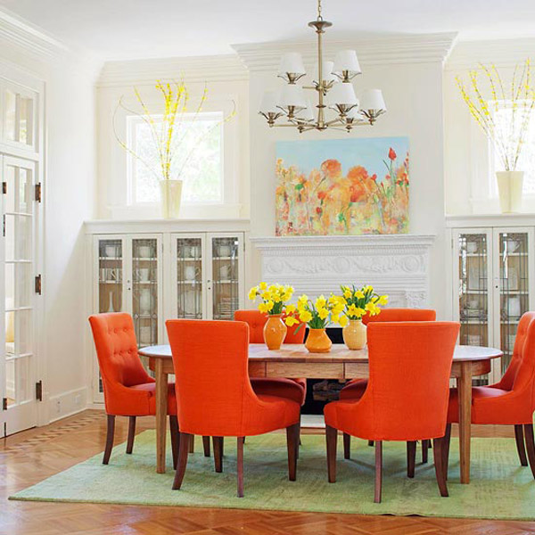 Colorful Dining Room Inspiration 1 Orange Pop