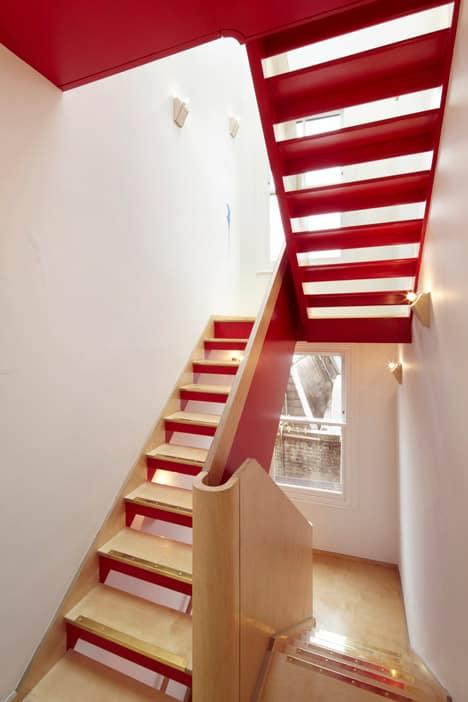 colorful graphic interiors featuring bright herringbone floors 14