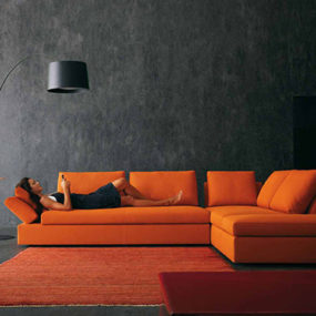 Contemporary Living Room Design Ideas, Inspiration in Bright Contrast Colors