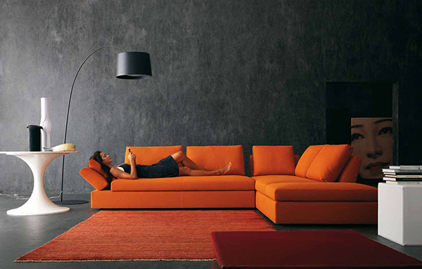contemporary living room design ideas inspiration in bright contrast colors