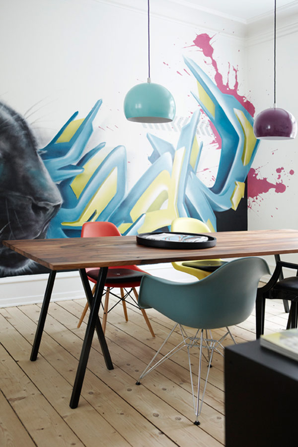 Cool Apartment Interior Graffiti Style Art 2 Filled With