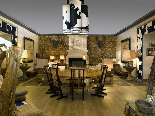 Cow Skin (cowhide) Wall Covering by SDA Decoration