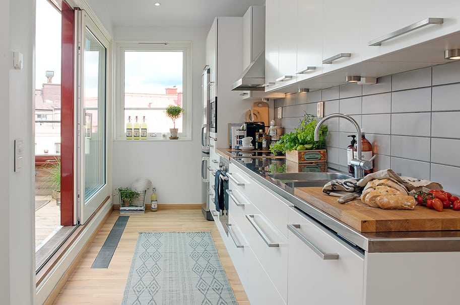 View In Gallery Cozy Apartment Scandinavian Style Kitchen Detail 2