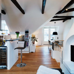 Cozy Loft Design Idea: Interesting Architectural and Decorative Details