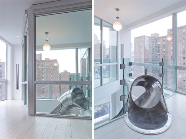 creative staircase alternative nyc home slide 2 Creative Staircase Alternative – a penthouse with a slide