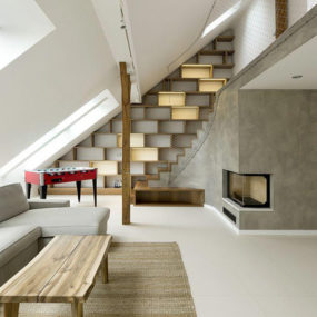 Decorating with Grey and Beige: Inviting Interior Design for a Modern Attic Loft