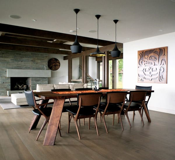 dramatic dining room design 1