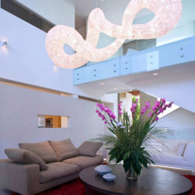 Dramatic Pendant Light Effect – Living Room Interior