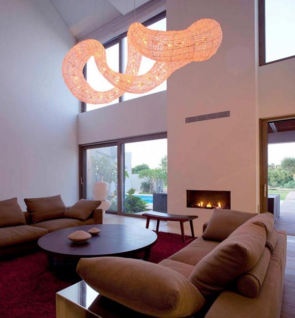 dramatic pendant light effect living room interior 2 Dramatic Pendant Light Effect   Living Room Interior