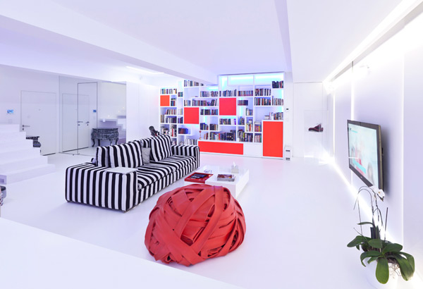 em apartment aastudio ultra modern playful 1 Ultra Modern Apartment Design by aastudio