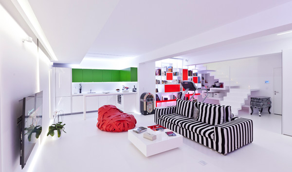 em apartment aastudio ultra modern playful 2 Ultra Modern Apartment Design by aastudio