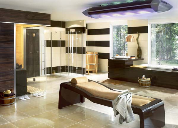 european bathroom finnish sauna 2 European Bathroom Idea   Finnish sauna plus tanning and fitness
