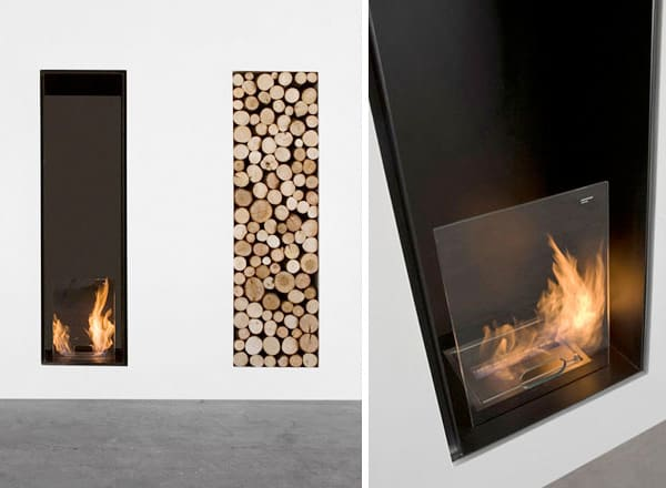 Fireplace Designs with Firewood Organizer by Antonio Lupi