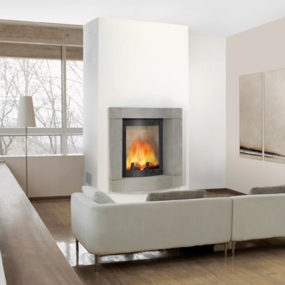 Fireplace Nook Design with a View