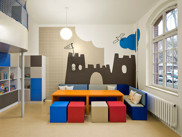 fun kids room designs by dan pearlman rh trendir com Girls Room Paint Ideas Living Room Decorating Ideas