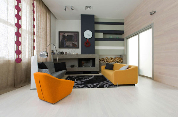fun living room modern flair 2 Fun Living Room Design with Modern Flair