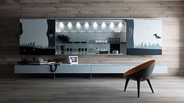 Functional Living Room Furniture By Valcucine