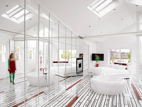 Funky home interiors with decorative floors