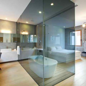 Glass Dividers in Bathroom – interesting interior idea