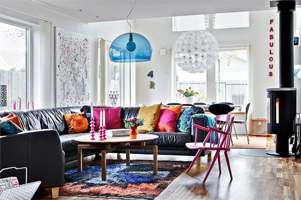 Colorful Home Decor In Sweden Photo