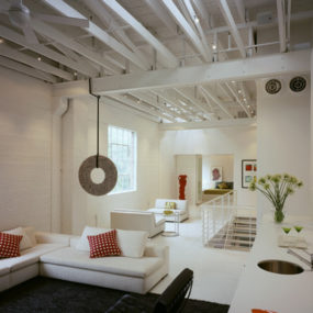 Industrial Loft Design in White