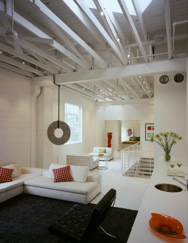 industrial loft design white 1 Industrial Loft Design in White