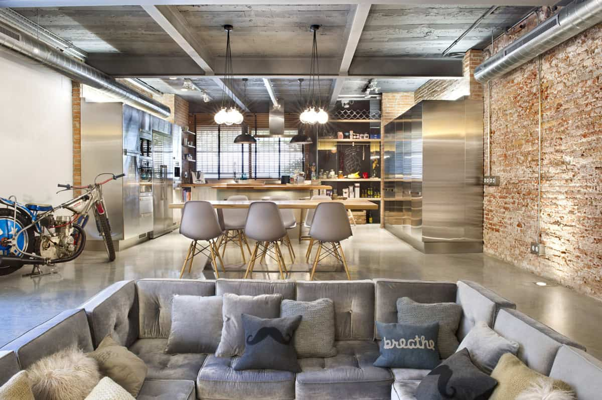 Captivating Spain Industrial Kitchen