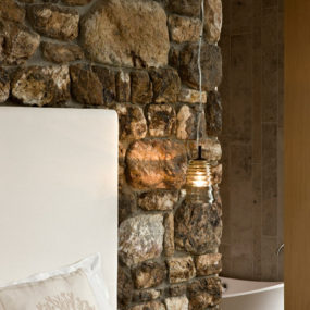 Interior Stone Wall Adds Rustic Touch