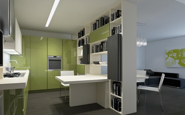 italian transformable furniture kitchen 2